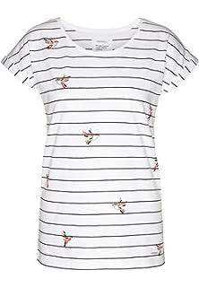f4fe5dd008609f ARMEDANGELS Damen T-Shirt aus Bio-Baumwolle - Liv Birds On Stripes -  Fairtrade