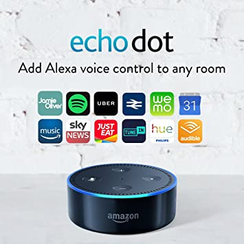 Amazon Echo Dot (2nd Gen) – Smart Speaker with Alexa – Black ...