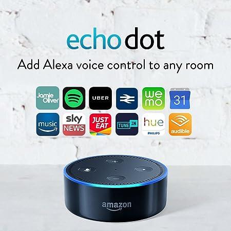 Amazon Echo Dot (2nd Generation) – Smart Speaker With Alexa – Black by Amazon