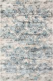Cheap Nolita Rugs Salamanca Polypropylene and Viscose Blue Area Rug 3'3″ X 5′