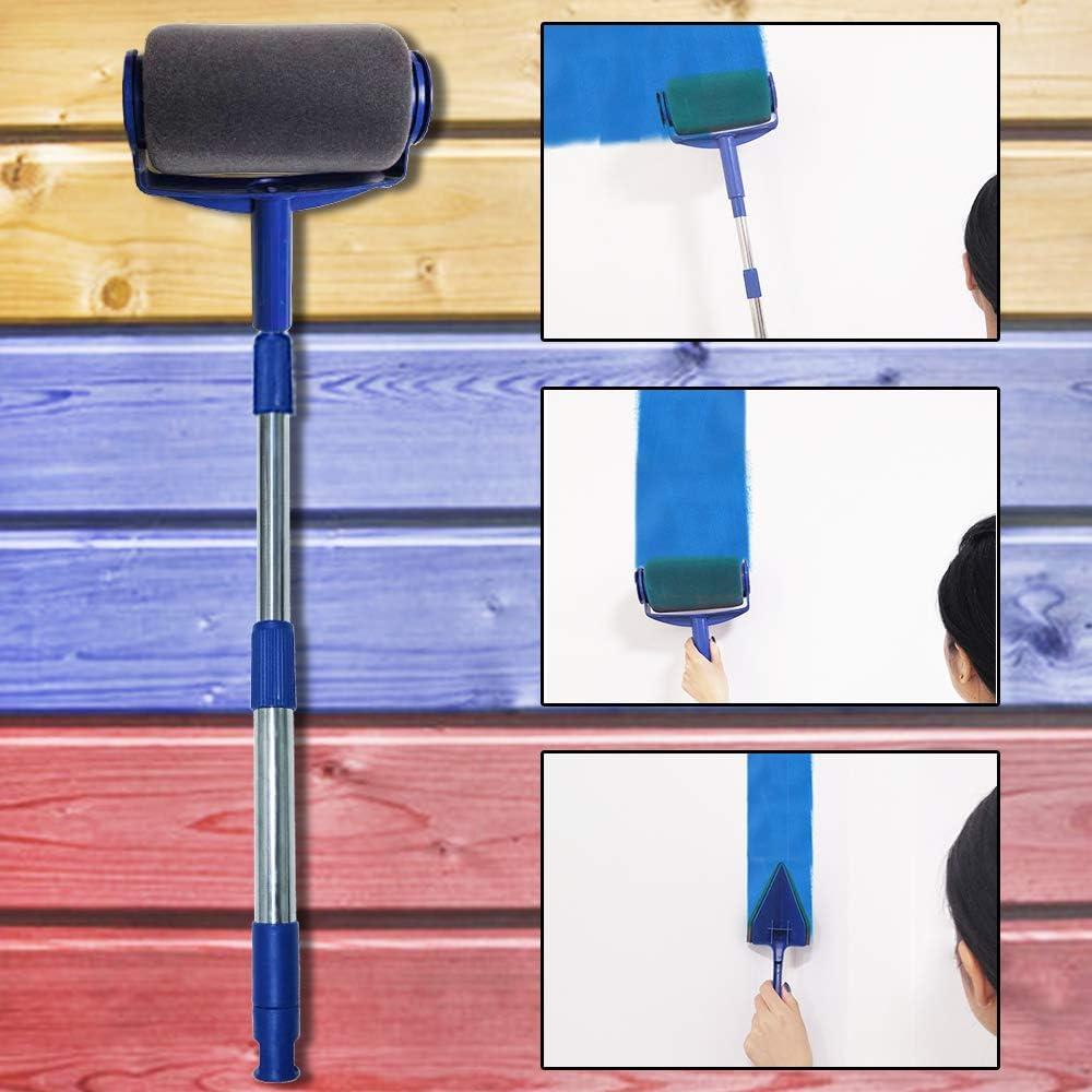 Farbroller Set Nahtlose Multifunktionale Haus Malerset f/ür Heimschule und B/üro Malerei Wand Decke 9 St/ücke Malerrolle mit Sticks