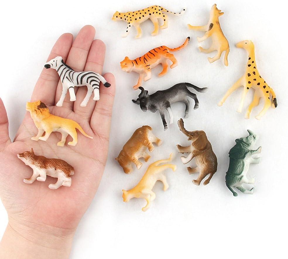 JIUZHOU Best Online Tienda de Juguetes para niños, 12 Piezas, Juguete de plástico Surtido, Animales Salvajes ...