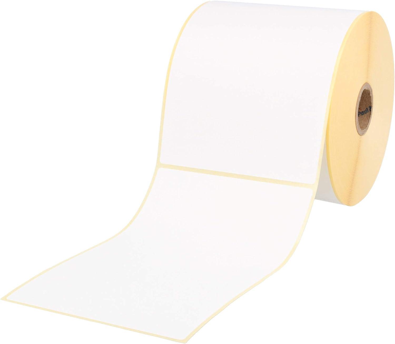 Labelident rotolo da 1 pollice per stampante desktop con perforazione DPD 500 etichette termiche ecologiche senza BPA 105 x 148 mm UPS termoadesive Etichette termiche per spedizioni DHL