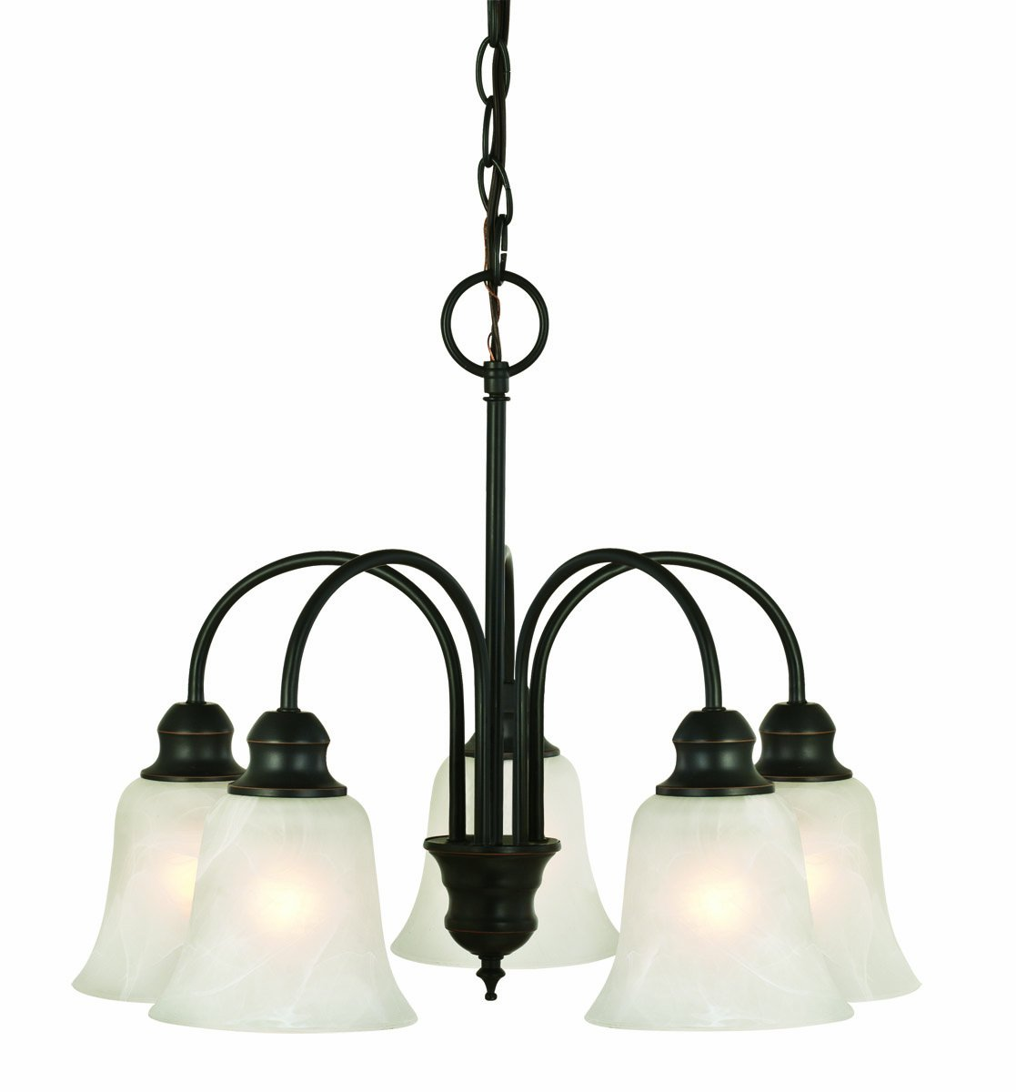 Design House 519322 Ridgeway 5 Light Chandelier, Oil Rubbed Bronze