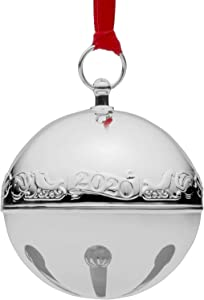 Wallace 2020 Sleigh Bell Silver-Plated Christmas Holiday Ornament, 50th Edition