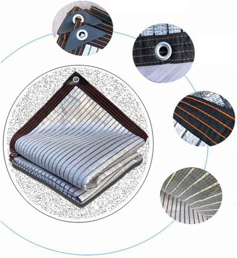 SCAHUN Rete Parasole Telone Telo Copertura Ombreggiatura Foglio di Alluminio Riflettente Anti-Invecchiamento Ombreggiatura 75/% Piante Succulente Terrazza Balcone Uso Domestico,Silver-2/×3m