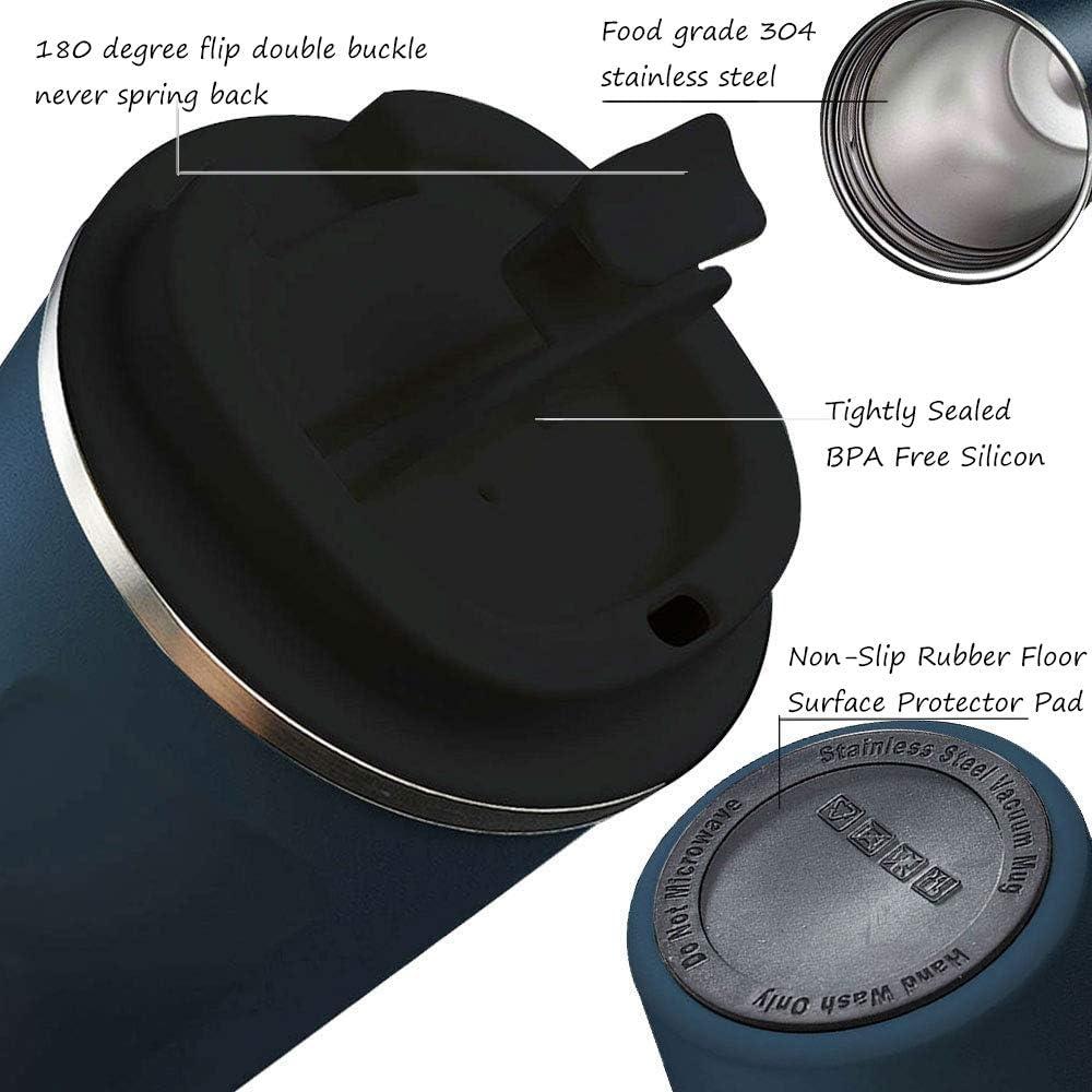 Himmel Blau 380ml Kaffeetasse Unterwegs Reisbecher mit Auslaufsicherem Deckel Wiederverwendbar und Umweltfreundlich SUNTQ Kaffeebecher to go aus Edelstahl Thermobecher Doppelwand Isolierung