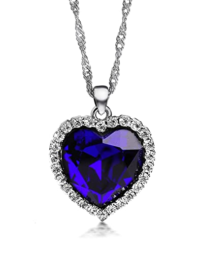 Buy Ananth Jewels Swarovski Elements Crystal Rhinestone Titanic Ocean Heart  Deep Love Necklace Pendant for Women Online at Low Prices in India   Amazon  ... 49419dcc78