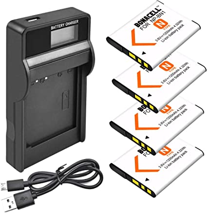 Akku Ladegerät für Sony Cyber-shot DSC-W310 DSC-W330 NP-BN1 DSC-W320