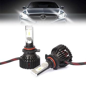 Par Bombillas LED para Faros Luz Auto T8 6500K Blanco Alto Voltaje H4 32W 3500LM: Amazon.es: Deportes y aire libre