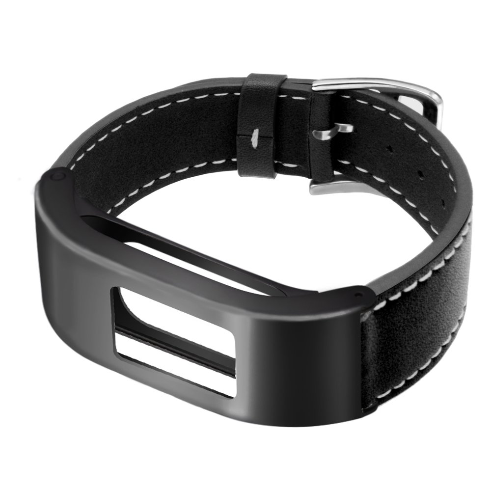 5.9-8.2in Metal Steel Case with Leather Bands Only for Garmin Vivofit 3 and Vivofit JR Brown C2D JOY for Garmin Vivofit3//JR Case Leather Bands
