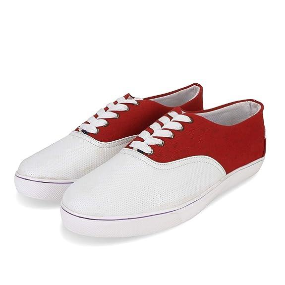 Quarks PU Dual Color Laces Canvas Shoes
