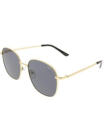 57560c59e08e Quay Australia JEZABELL Women's Sunglasses Minimal Round Sunnies - Gold/ Smoke