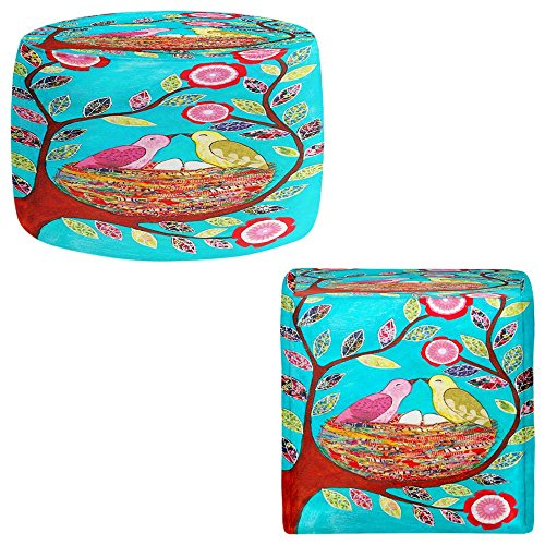Foot Stools Poufs Chairs Round or Square from DiaNoche Designs by Sascalia - Love Nest by DiaNoche Designs