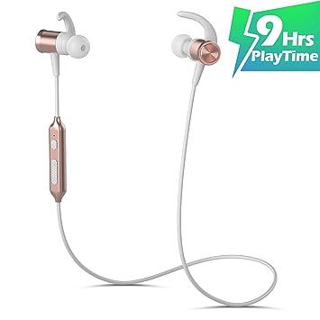 Auriculares Bluetooth KLOKOL Auriculares Deportivos inalámbricos 9 Horas Auriculares intrauditivos para Jugar en Tiempo Real (IPX6 a Prueba de Sudor, ...