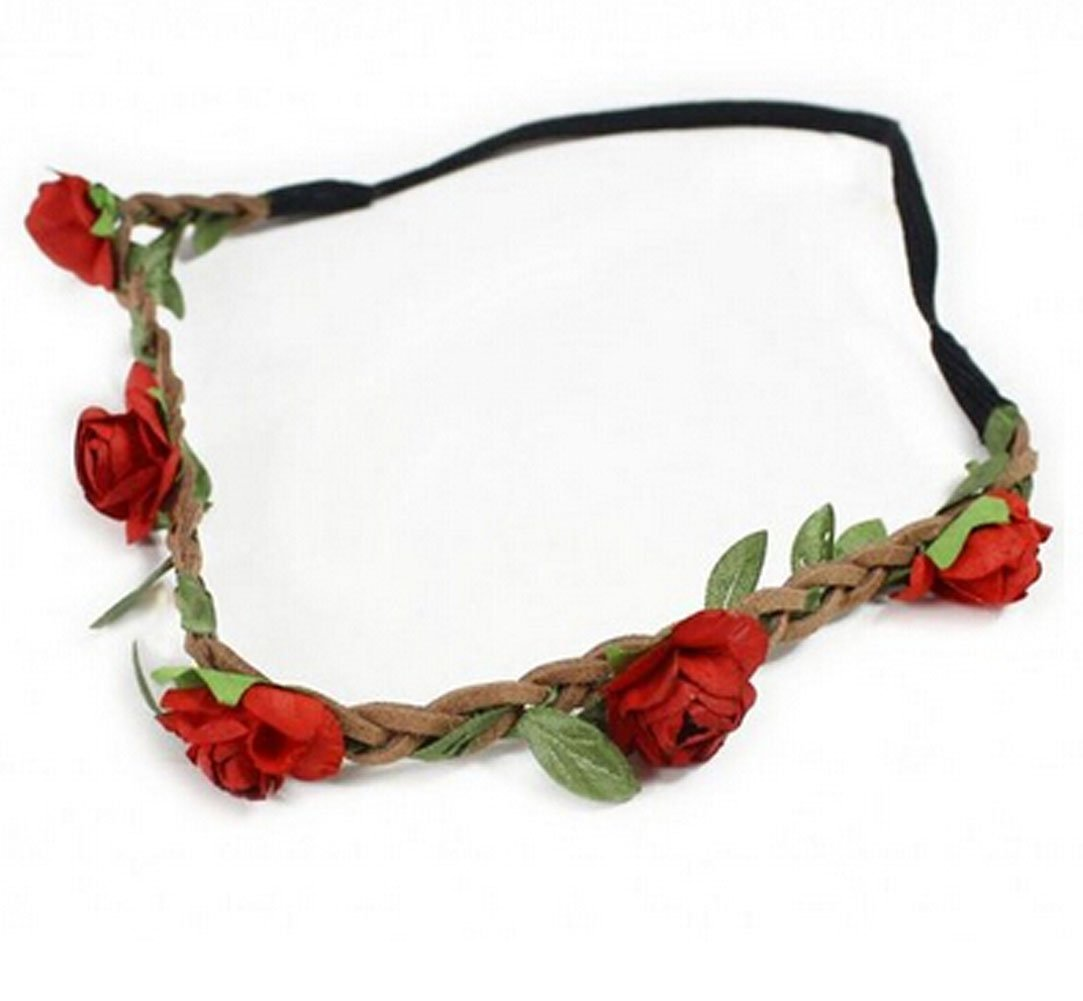 Amazon Hippie Love Flower Garland Crown Festival Wedding Hair