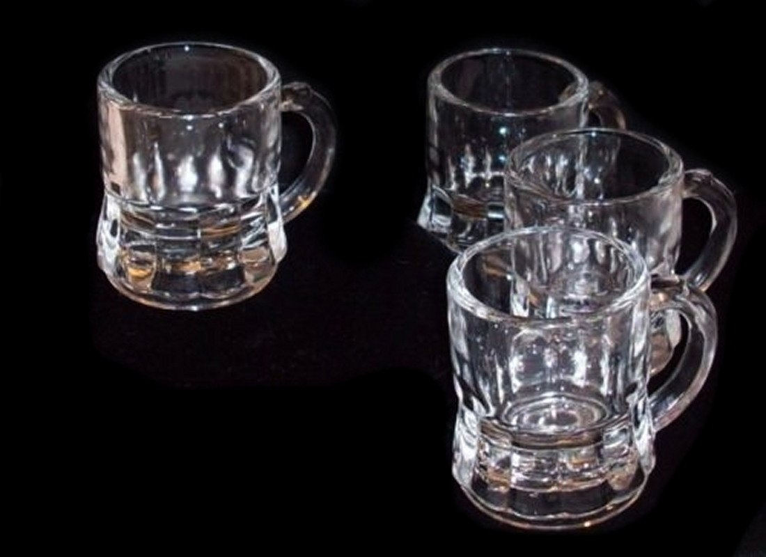 Schnapsgläser Mini Bierglas 45cc 6er Set Whisky-Schuss Alkohol Bier ...