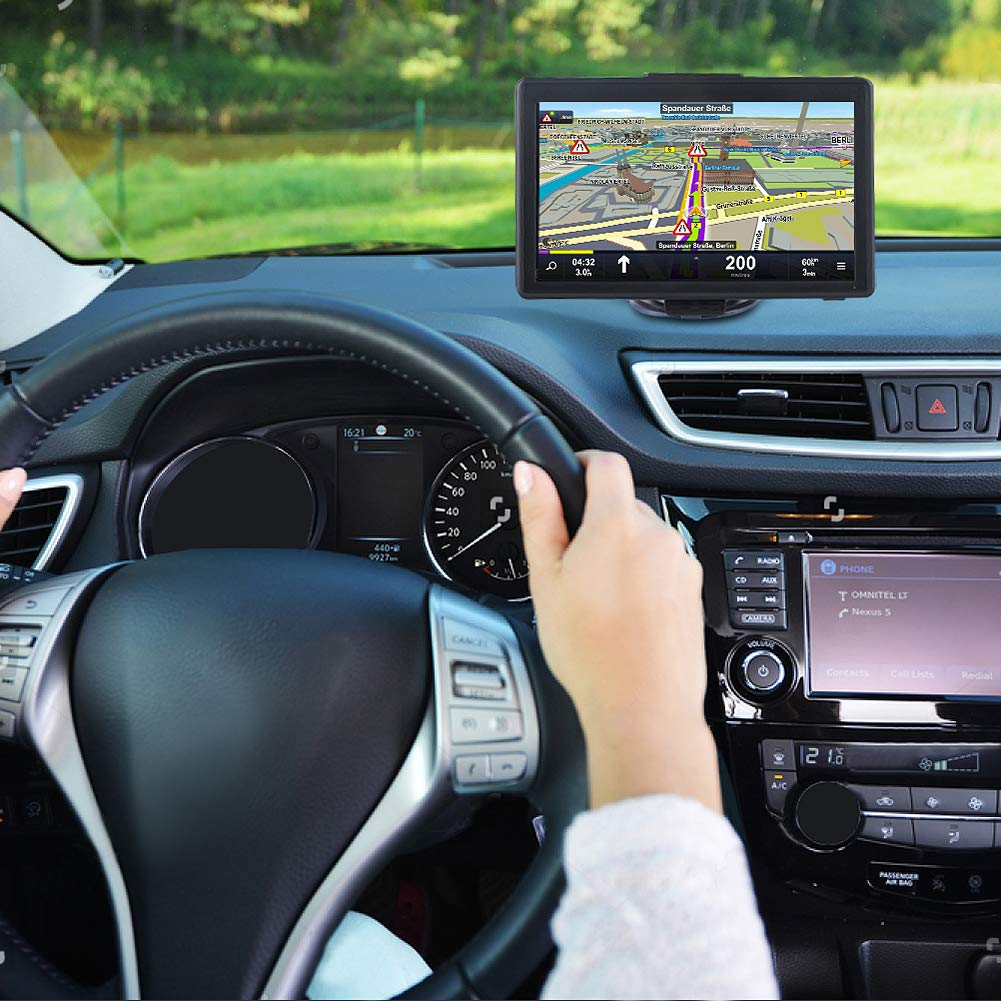 GPS Navigation for Car 7 inches Spoken Turn-to-Turn Navigation System for Cars Vehicle GPS Navigator Lifetime Free Maps Update