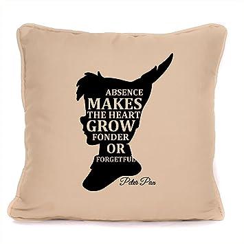 Amazon.com: Peter Pan inspired Quote Cojín Ausencia hace el ...