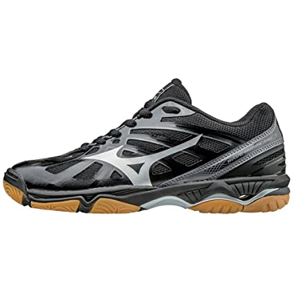 92bccf651600 Mizuno Women's Wave Hurricane 3 Volleyball Shoes - Black & Silver (Women's  Size ...