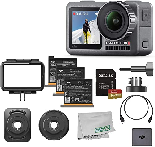 DJI Osmo Action 4K HDR Waterproof Camera Ultimate Bundle