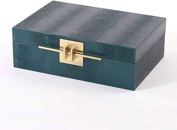 Nueva Caja de joyería de Cuero Chino, Bronce, Hebilla de Metal, decoración Suave para el salón de Hotel, Modelo casa de salón (Size : 31 * 21 * 10cm): Amazon.es: Hogar