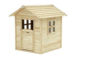 Amazonde Spielhaus Spielhütte Holzspielhaus Für Kinder Tüv Geprüft