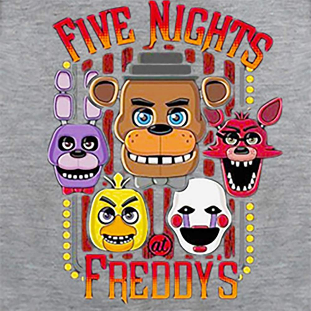 Boys Five Nights at Freddys Thin Soft Comfortable Hoodie Hooded Sweatshirt 10, Grey