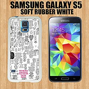 Japanese Anime Quotes Custom made Case/Cover/Skin FOR Samsung Galaxy S5 -White- Rubber Case