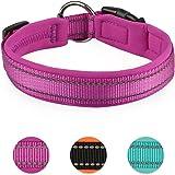MASBRILL Padded Dog Collar with Buckle Adjustable Safety Nylon Puppy Collars Reflective Waterproof Neoprene Padded Basic Dog