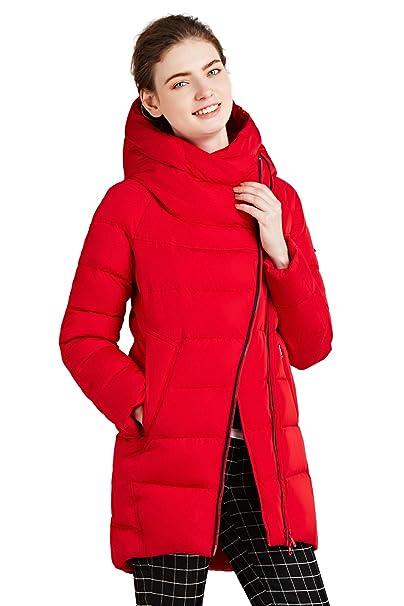 350e9ec341e8e ICEbear Abrigo - Manga Larga - para mujer rojo S  Amazon.es  Ropa y  accesorios