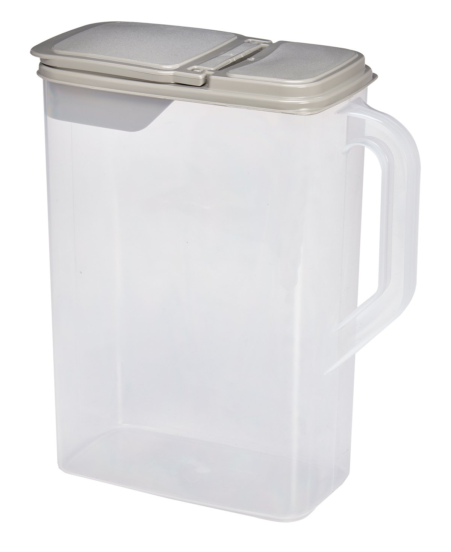 Dry Pet Food Seed Storage Container  8 Quart Flip Lid Bonus 1 Cup Scoop  BPA Free Buddeez