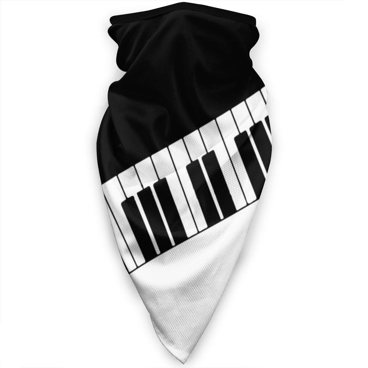 Piano Keys Neck Gaiter Warmer Windproof Face Mask Scarf Outdoor Sports Mask