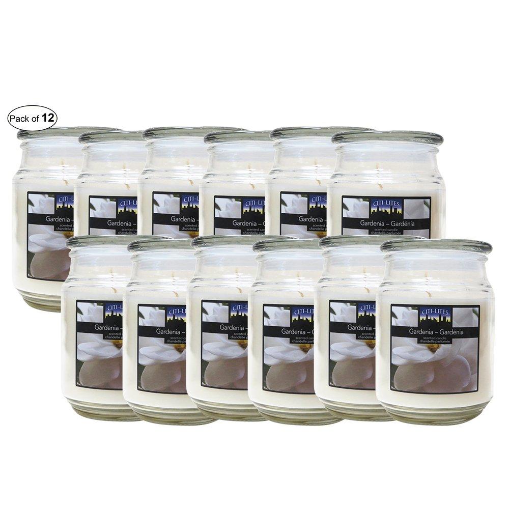 Citi-Lites 18 Ounce Apothecary Jar-Gardenia (Pack of 12)