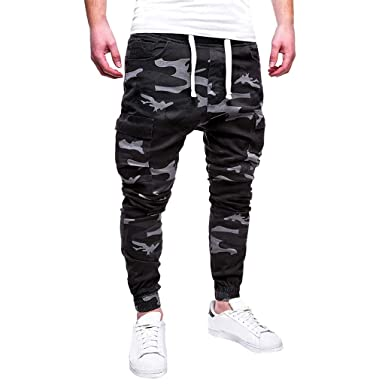 Amazon.com: Sikye Mens Sweatpant Slim Fit Stretchy ...