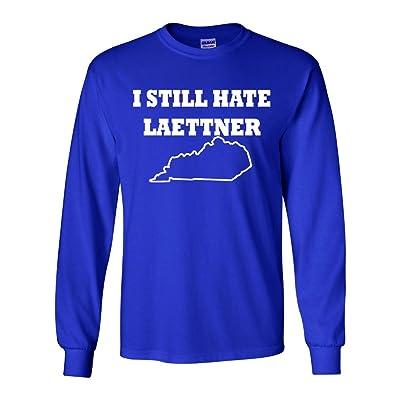 """Long Sleeve Christian Laettner """"I Still Hate Laettner"""" T-Shirt"""