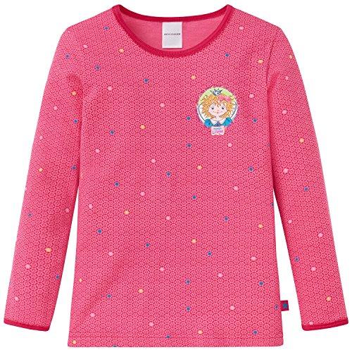 Schiesser Mädchen Prinzessin Lillifee Unterhemd 1/1, Rot (Pink 504), 104