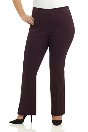 27efccec747 Rekucci Curvy Woman Ease in to Comfort Fit Barely Bootcut Plus Size Pant  (14W