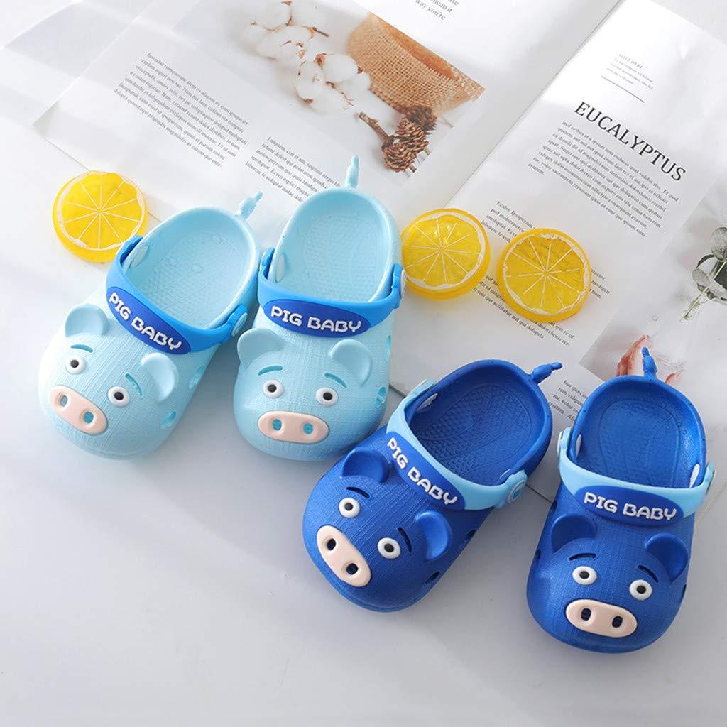 Baby Boys Girls Summer Beach Shoes Toddler Kids Cartoon Pig Slippers Flip Sneakers Children Sandals Size 6-9.5 (US:8.5, Dark Blue) by Dasuy (Image #4)