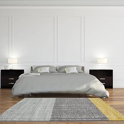 Amazon Rio Modern Scandinavian Grey Ochre Yellow Living Room