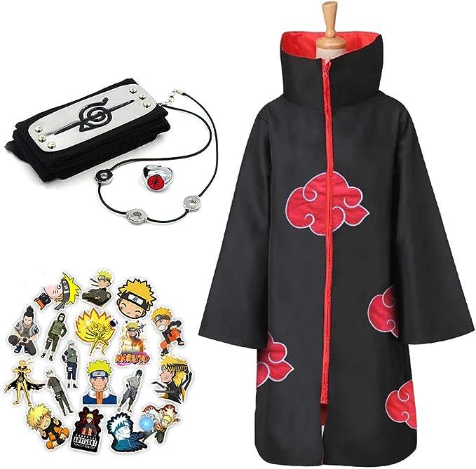 Amazon.com: Naruto bata larga disfraz de Halloween Cosplay ...
