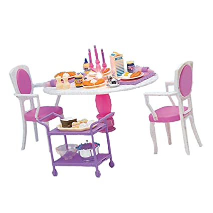 Amazon Com Baoblaze 1 6 Miniature Dining Table Chair Foods