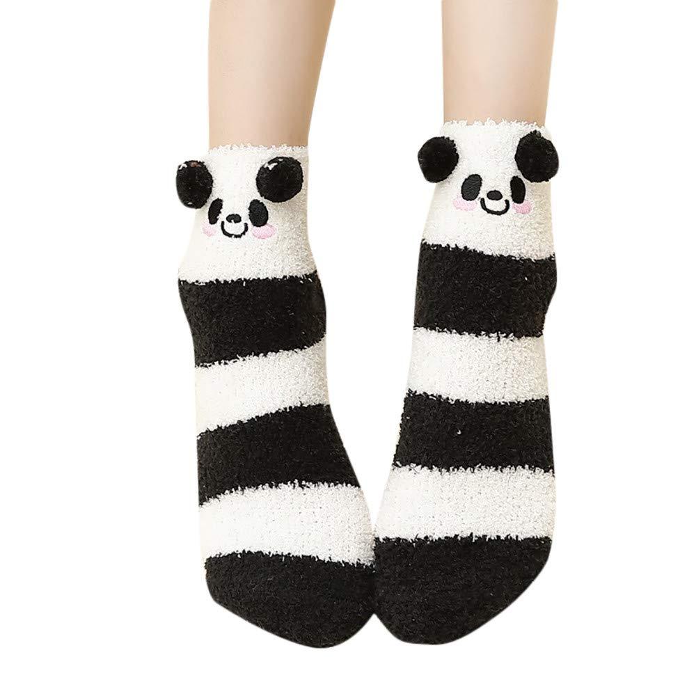 Clearance Sale!!Kanhan Unisex Socks Cute Animal Socks Winter Warm Fluffy Bed Sleep Christmas Socks (G)
