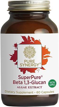 Pure Synergy SuperPure Beta 1,3-Glucan Extract | 60 Capsules | Non-GMO | Vegan | Algae-Based, Yeast-Free, 500 mg, Beta Glucan Supplement