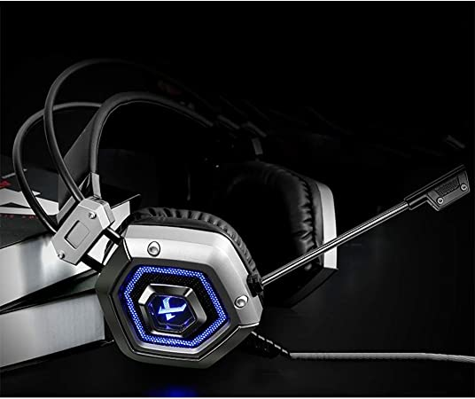 RENKUNDE Headset Gaming Headset Black Adjustable Dual Audio Stereo Computer Headphones Sound Quality Clear Comfortable Gaming Headset