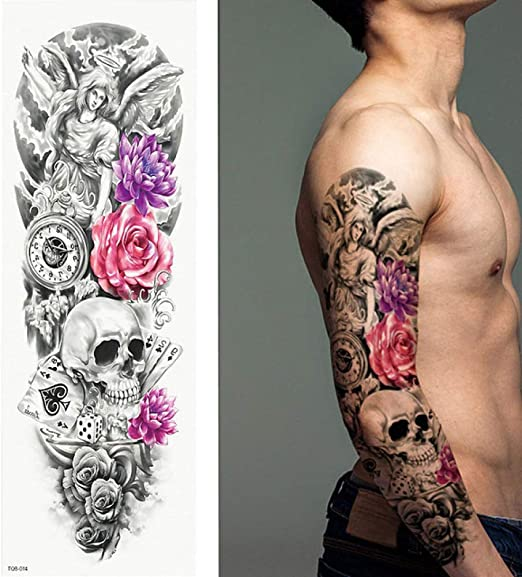 tzxdbh 5Pcs- Tatuaje De Brazo Completo, Pegatinas De Tatuaje ...