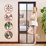 """Allezola Magnetic Screen Door with Heavy Duty Mesh Curtain and Full Frame Velcro, Fits Doors Up to 35"""" x 82"""