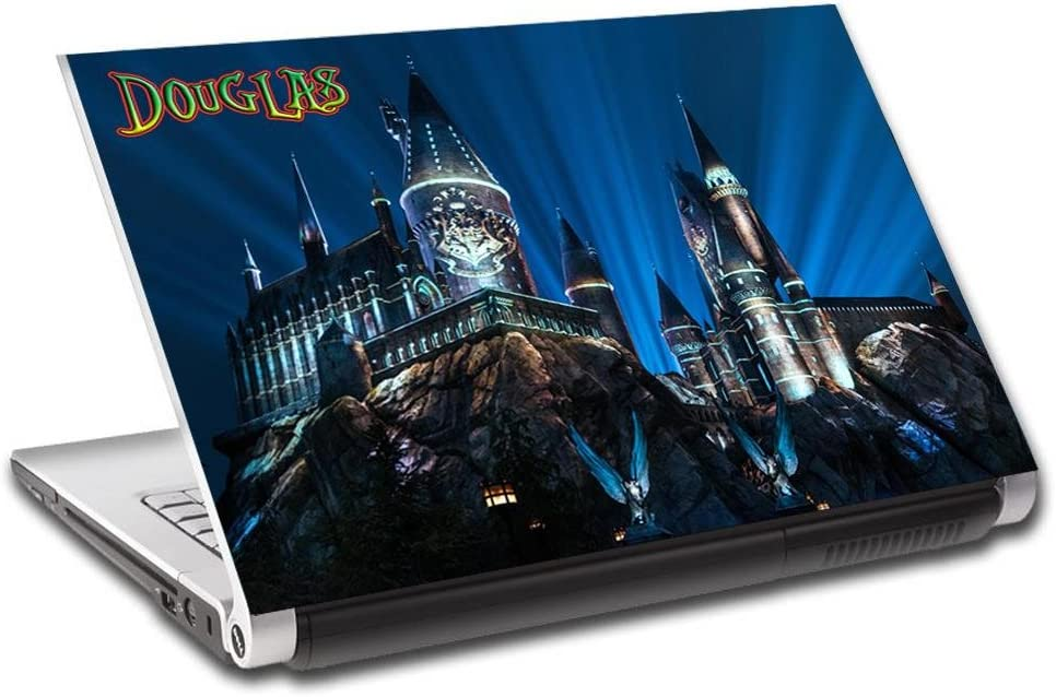 Hogwarts Harry Potter Personalized LAPTOP Skin Decal Vinyl Sticker ANY NAME L503, 15.6""