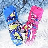 Sports Outdoors Kids Best Deals - WXLAA Winter Sports Ski Gloves Cute Warm Gloves Mittens Waterproof Windproof for Kids Childrem