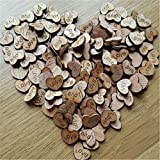 200pcs Rustic Wooden Love Heart Wedding Table Scatter Decoration Crafts(Update Version)